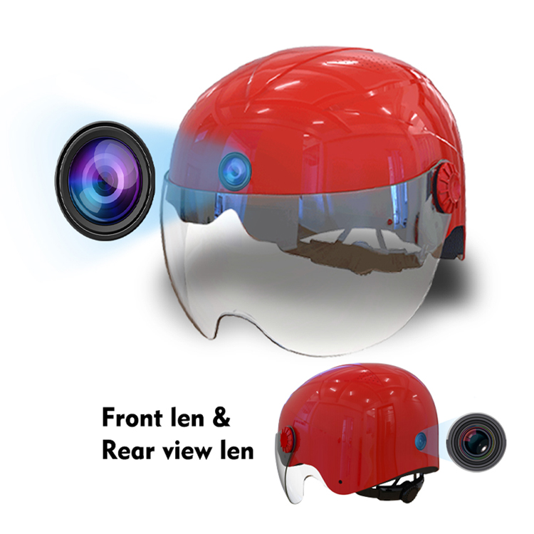 A9 AI Helmet Camera Dual Camcorder With WIFI, Bluetooth AI Intelligent 6 Hours No-Stop Motorcycle Camera Featured Image